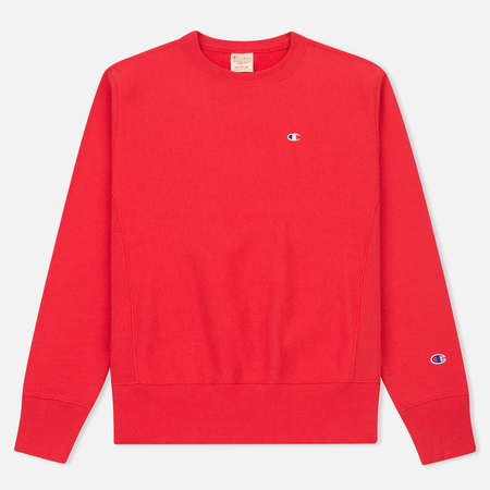 Мужская толстовка Champion Reverse Weave Logo Crew Neck Red