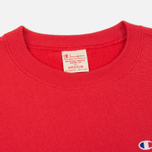 Мужская толстовка Champion Reverse Weave Logo Crew Neck Red фото- 1