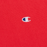 Мужская толстовка Champion Reverse Weave Logo Crew Neck Red фото- 2