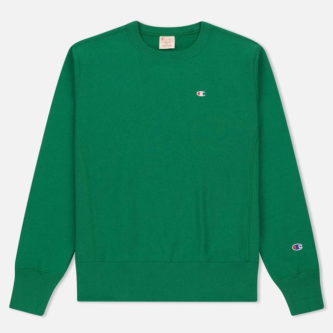 Мужская толстовка Champion Reverse Weave Logo Crew Neck Verdent Green