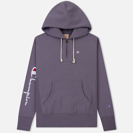 Мужская толстовка Champion Reverse Weave Logo Half Zip Hooded Pastel Plum