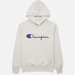 Мужская толстовка Champion Reverse Weave Logo Light Grey фото- 0