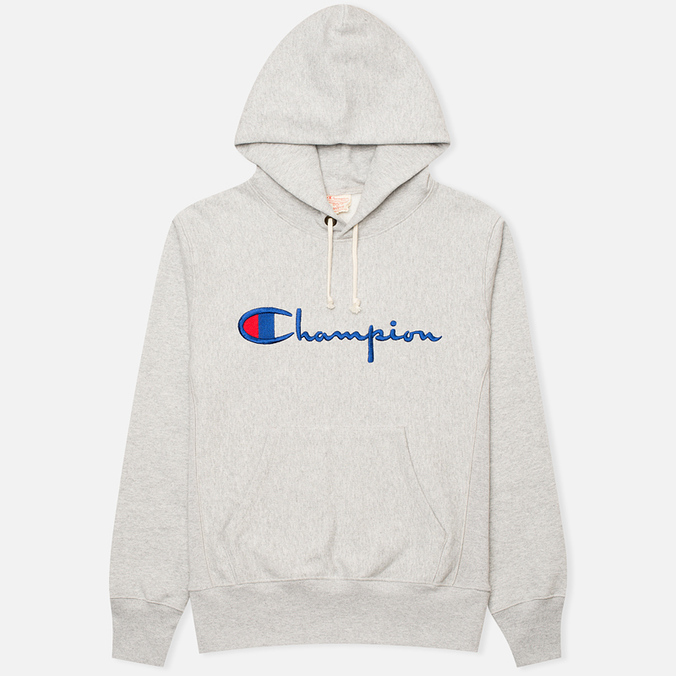 Мужская толстовка Champion Reverse Weave Logo Light Grey