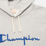 Мужская толстовка Champion Reverse Weave Logo Light Grey фото- 1
