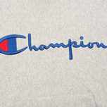 Мужская толстовка Champion Reverse Weave Logo Light Grey фото- 2