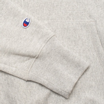 Champion Reverse Weave Logo Men's Hoodies Light Grey photo- 3