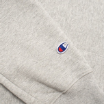 Мужская толстовка Champion Reverse Weave Logo Light Grey фото- 4