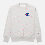 Мужская толстовка Champion Reverse Weave Logo Print Light Grey фото- 0