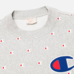 Мужская толстовка Champion Reverse Weave Logo Print Light Grey фото- 1