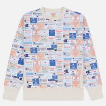 Мужская толстовка Champion Reverse Weave Archive Label Print Multicolor фото- 0