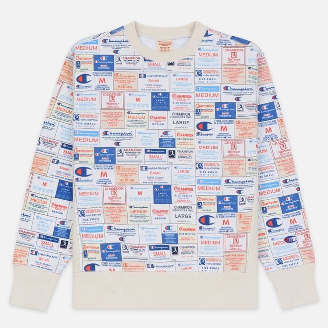 Мужская толстовка Champion Reverse Weave Archive Label Print Multicolor