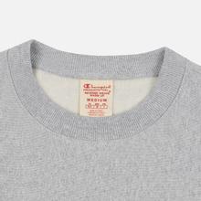 Мужская толстовка Champion Reverse Weave Archive Centenary Print Crew Neck Light Grey фото- 1