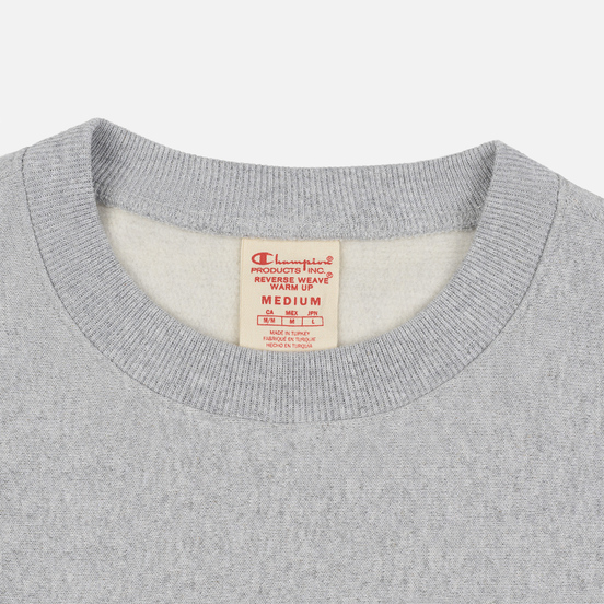 Мужская толстовка Champion Reverse Weave Archive Centenary Print Crew Neck Light Grey