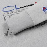Мужская толстовка Champion Reverse Weave Archive Centenary Print Crew Neck Light Grey фото- 3