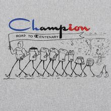 Мужская толстовка Champion Reverse Weave Archive Centenary Print Crew Neck Light Grey фото- 2