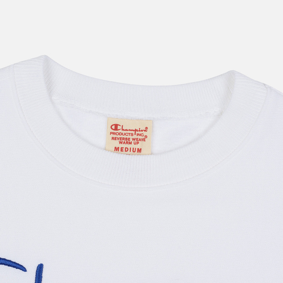 Мужская толстовка Champion Reverse Weave Archive Centenary Print Crew Neck White