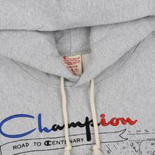 Мужская толстовка Champion Reverse Weave Multi Logo Hooded Light Grey фото- 2