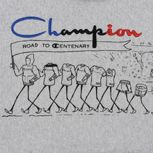 Мужская толстовка Champion Reverse Weave Multi Logo Hooded Light Grey фото- 3