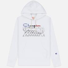 Мужская толстовка Champion Reverse Weave Multi Logo Hooded White фото- 0