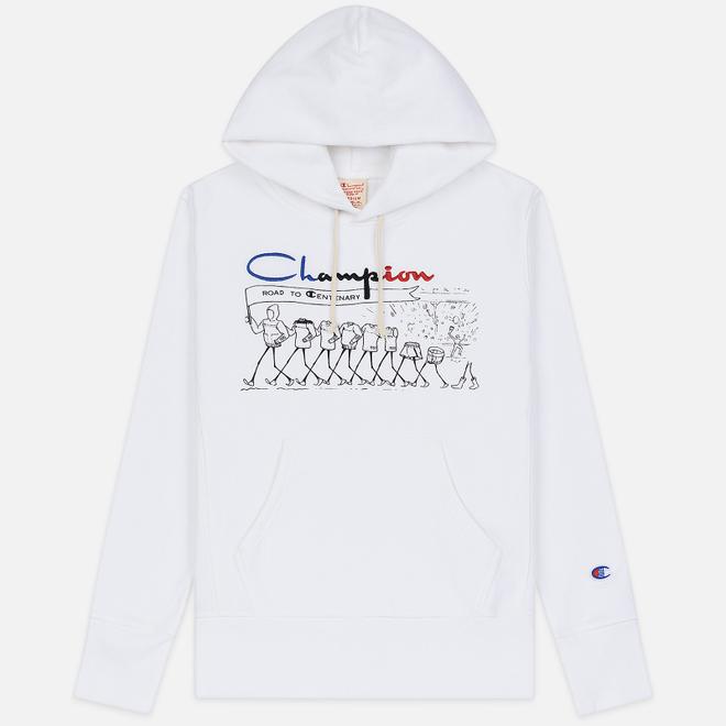 Мужская толстовка Champion Reverse Weave Multi Logo Hooded White