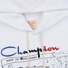 Мужская толстовка Champion Reverse Weave Multi Logo Hooded White фото- 4