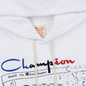 Мужская толстовка Champion Reverse Weave Multi Logo Hooded White фото - 4