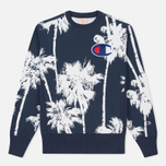 Мужская толстовка Champion Reverse Weave Print Palma All Over Mountain Blue фото- 0