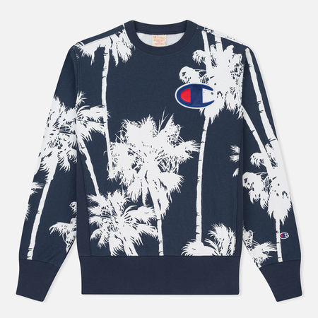 Мужская толстовка Champion Reverse Weave Print Palma All Over Mountain Blue
