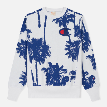 Мужская толстовка Champion Reverse Weave Print Palma All Over White
