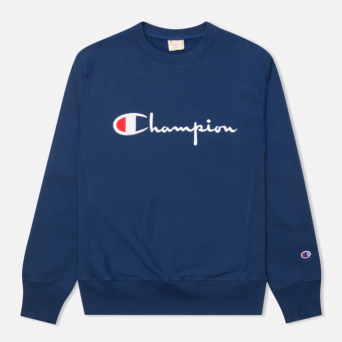 Мужская толстовка Champion Reverse Weave Script Blue