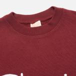 Champion Reverse Weave Script Men's Sweatshirt Burgundy photo- 1