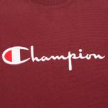 Champion Reverse Weave Script Men's Sweatshirt Burgundy photo- 2