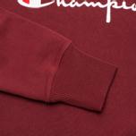 Champion Reverse Weave Script Men's Sweatshirt Burgundy photo- 3