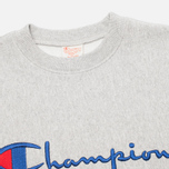 Мужская толстовка Champion Reverse Weave Script Light Grey фото- 1