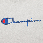 Мужская толстовка Champion Reverse Weave Script Light Grey фото- 2