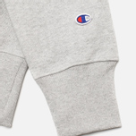 Мужская толстовка Champion Reverse Weave Script Light Grey фото- 4