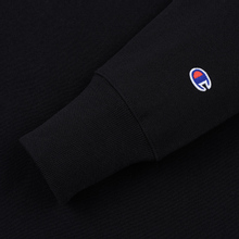 Мужская толстовка Champion Reverse Weave Script Logo Crew Neck Black фото- 3