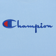 Мужская толстовка Champion Reverse Weave Script Logo Crew Neck Blue Bell фото- 2