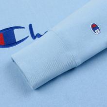 Мужская толстовка Champion Reverse Weave Script Logo Crew Neck Blue Bell фото- 3