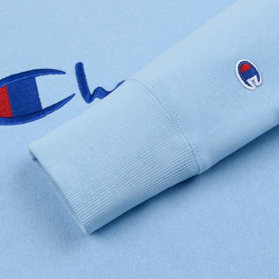Мужская толстовка Champion Reverse Weave Script Logo Crew Neck Blue Bell