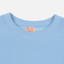 Мужская толстовка Champion Reverse Weave Script Logo Crew Neck Blue Bell фото- 1