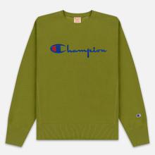 Мужская толстовка Champion Reverse Weave Script Logo Crew Neck Guacamole фото- 0