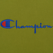 Мужская толстовка Champion Reverse Weave Script Logo Crew Neck Guacamole фото- 2