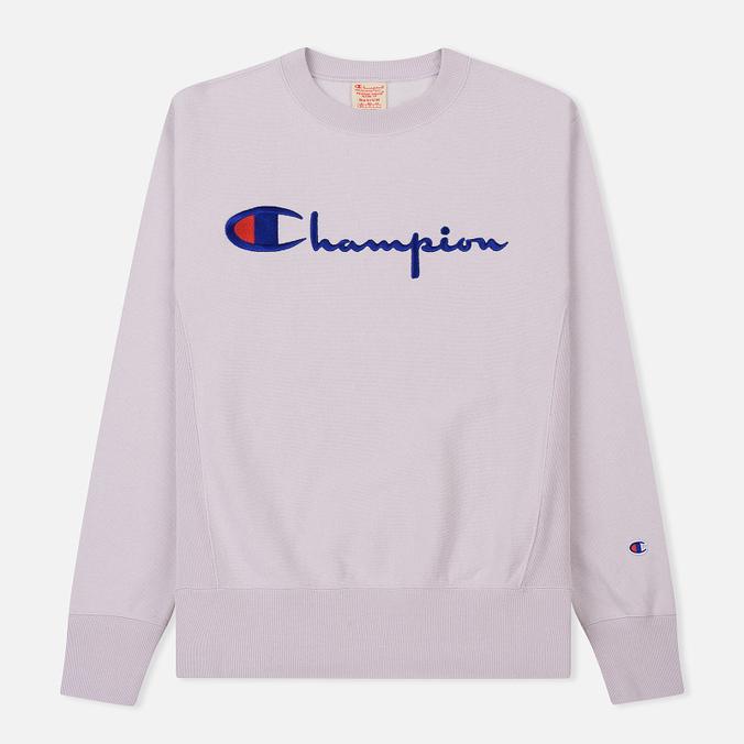 Мужская толстовка Champion Reverse Weave Script Logo Crew Neck Lavender