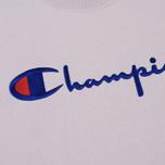 Мужская толстовка Champion Reverse Weave Script Logo Crew Neck Lavender фото- 2