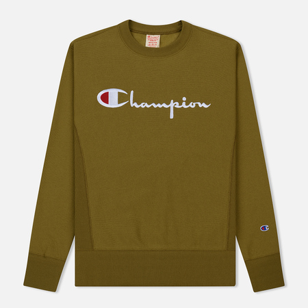 Мужская толстовка Champion Reverse Weave Script Logo Crew Neck Light Brown