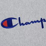 Мужская толстовка Champion Reverse Weave Script Logo Crew Neck Light Grey фото- 2