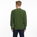 Мужская толстовка Champion Reverse Weave Script Logo Crew Neck Military Green фото- 6