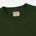 Мужская толстовка Champion Reverse Weave Script Logo Crew Neck Military Green фото- 1