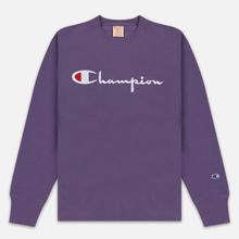 Мужская толстовка Champion Reverse Weave Script Logo Crew Neck Mulled Grape фото- 0